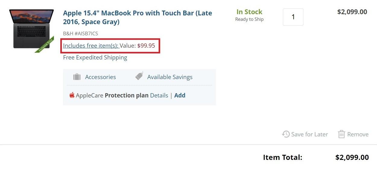 Apple 15 inch MacBook Pro free headphones