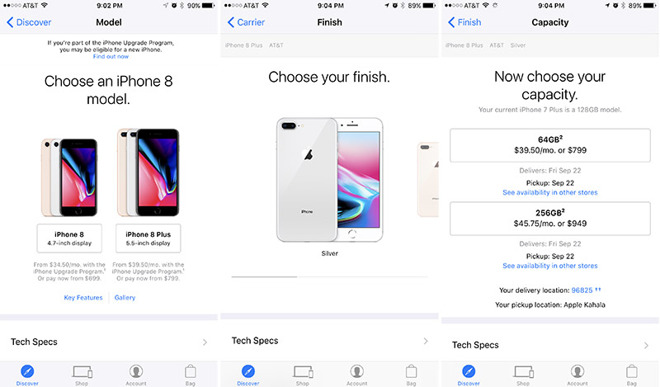 Apple iPhone 8, Apple Watch Series 3, Apple TV 4K preorders