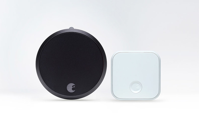 Almost identical in appearance to the original August lock the $279 Smart Lock Pro features an enlarged puck design that fits over existing deadbolt knobs.  sc 1 st  AppleInsider & August unveils HomeKit-compatible Smart Lock Pro redesigned Smart ...
