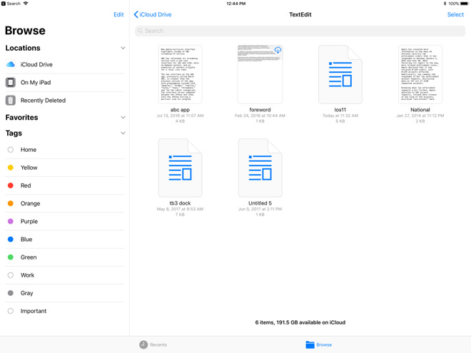 Inside iOS 11: Files app brings some user control of documents