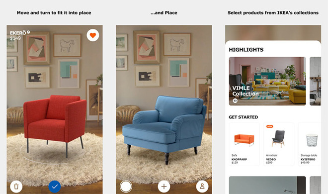 ikea 39 s augmented reality app now available for download. Black Bedroom Furniture Sets. Home Design Ideas