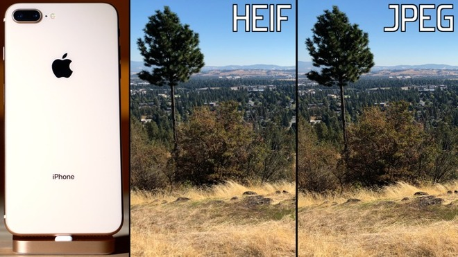 watch: heif vs. jpeg on iphone 8 compared