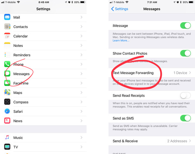 How to make iPhone texts and iMessages appear across all