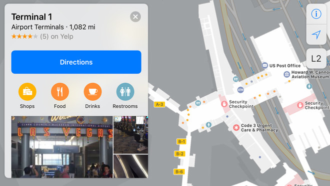 Apple adds several US airports to Apple Maps including ...