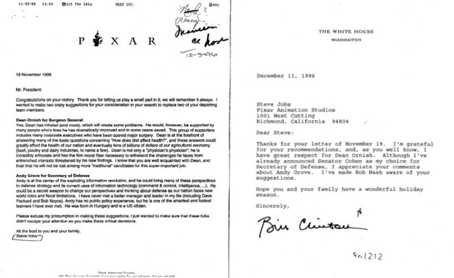Documents Show Clinton Administration Chummy With Steve Jobs But