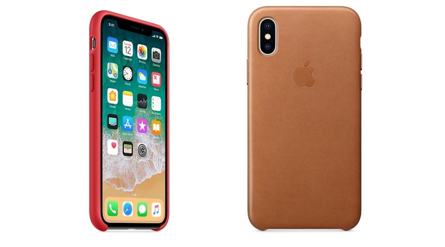 Apple iPhone X Silicone and Leather Cases