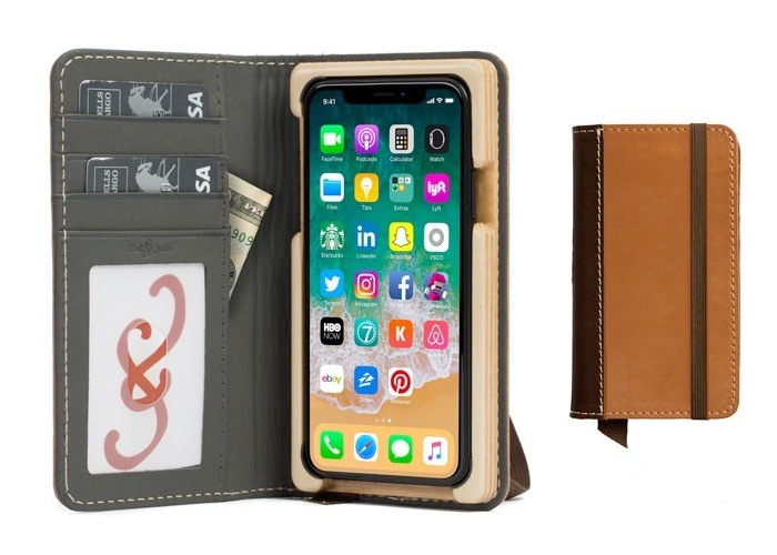 Pad and Quill Heritage Pocket Book Wallet Case for iPhone X