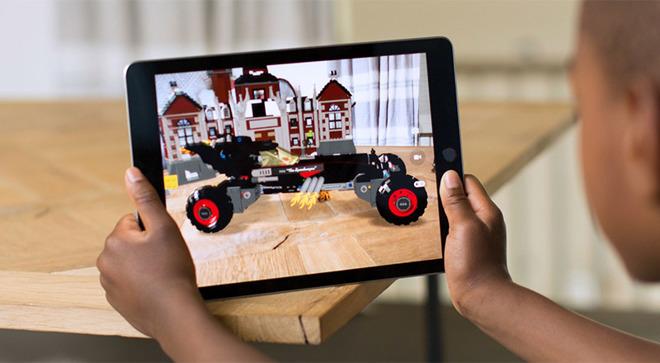 Apple's current AR platform: an ARKit app running on an iPad