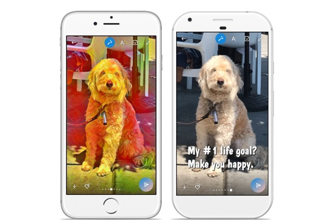 Skype for iOS borrows from Snapchat by adding machine