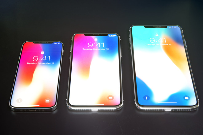 mockups envision 39 iphone x plus 39 and 39 iphone se 2 39 with edge to edge displays face id. Black Bedroom Furniture Sets. Home Design Ideas