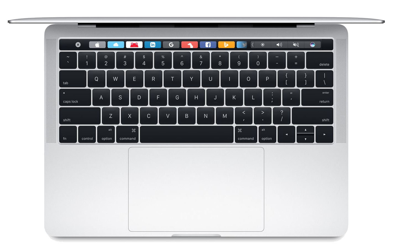 Apple Mid 2017 13 inch MacBook Pro with Touch Bar in Silver