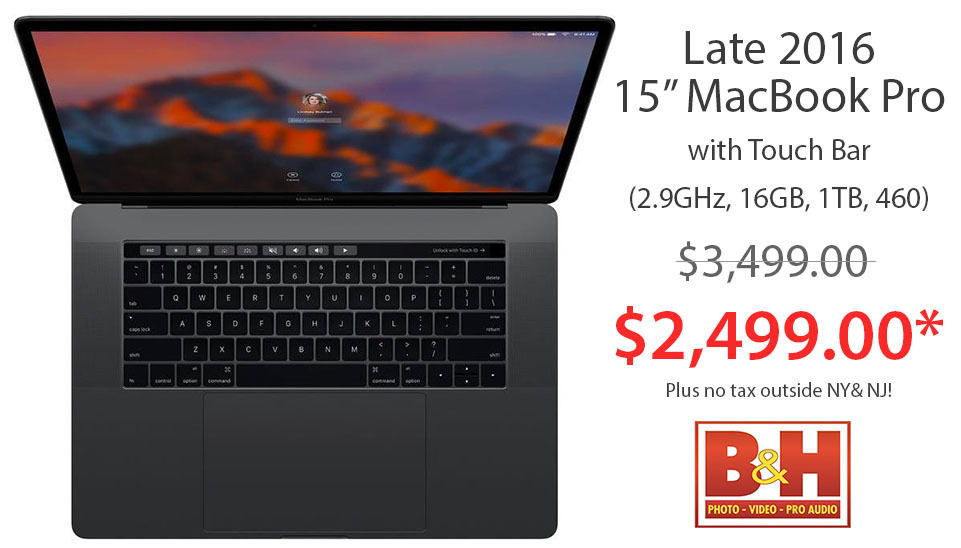 Apple Late 2016 15 inch MacBook Pro in Space Gray