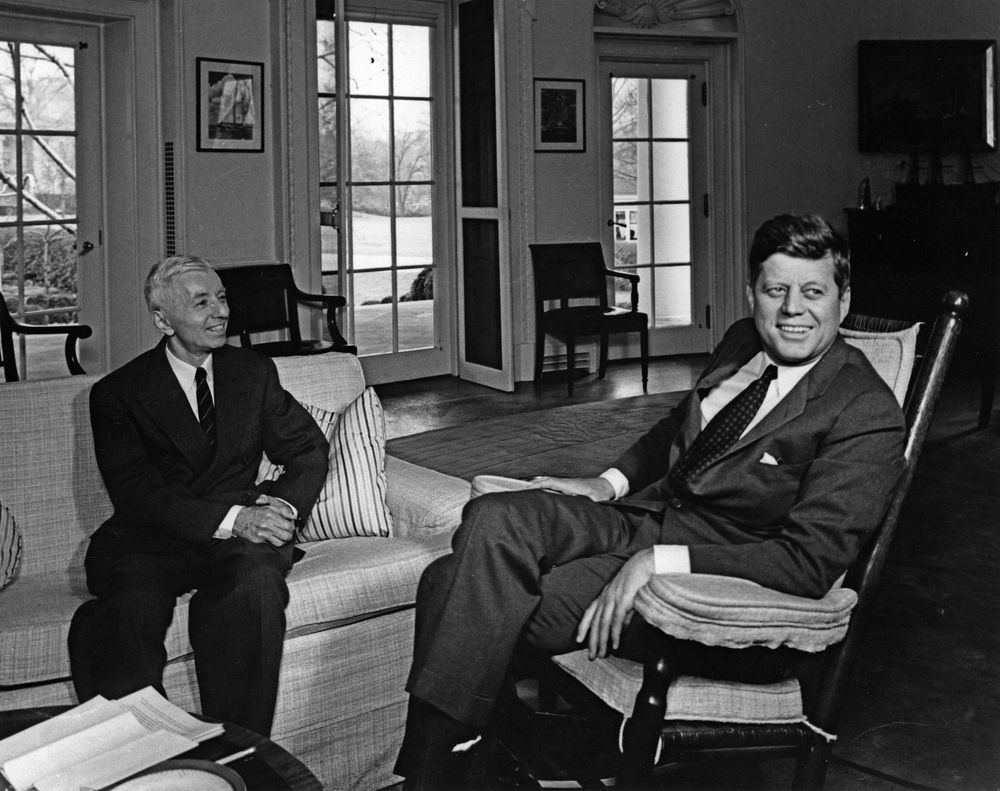 Vice Admiral Hyman G. Rickover with President John F. Kennedy