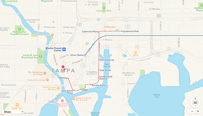 Apple Maps adds public transit directions for Tampa, Fla. on ifinder maps, satellite maps, mmo maps, smb maps, yandex maps, rim maps, waze maps, tumblr maps, iphone maps, nokia maps, creative maps, black maps, windows maps, goolge maps, bing maps, hot wheels maps, pcs maps, google maps,