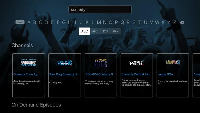 siriusxm radio comes to native apple tv app