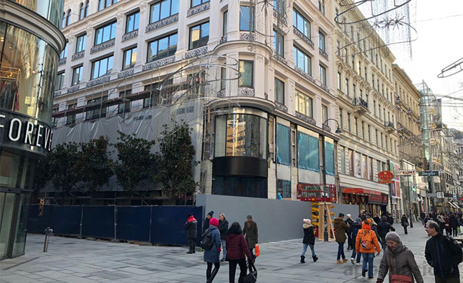 Construction Of First Vienna Apple Store Accelerating Ahead Of