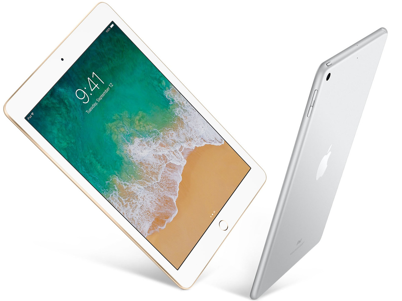 Apple 2017 iPads in Gold and Silver