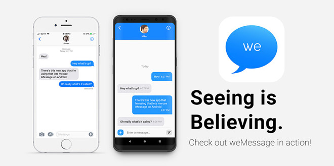 weMessage promises to bring iMessage to Android, uses Mac as