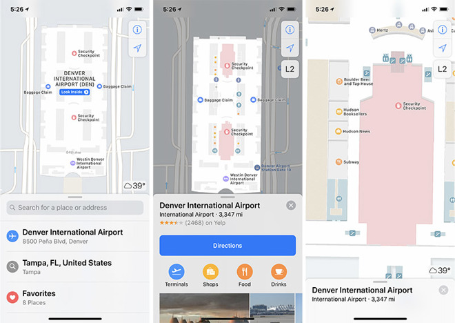 Apple details indoor maps coverage of 34 airports, multiple malls on indoor home, indoor map depth, indoor waterpark, indoor landscape, indoor mobile, indoor cloud point,