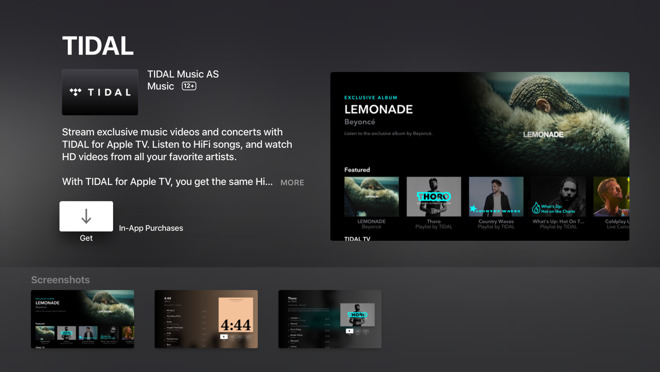 Tidal continues push on Apple platforms with native Apple TV app