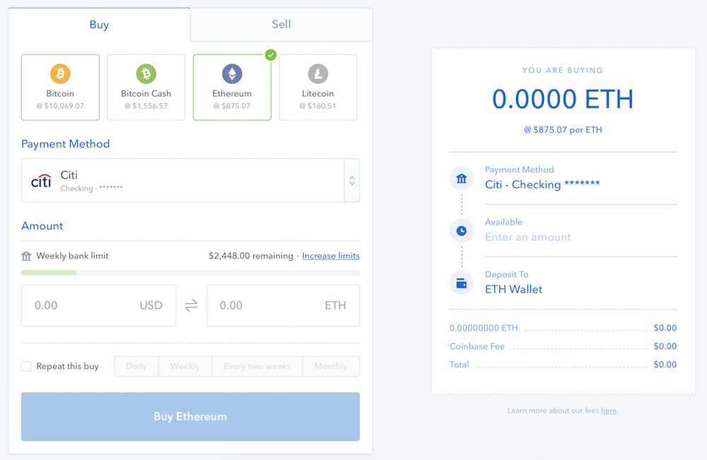 coinbase for ipad