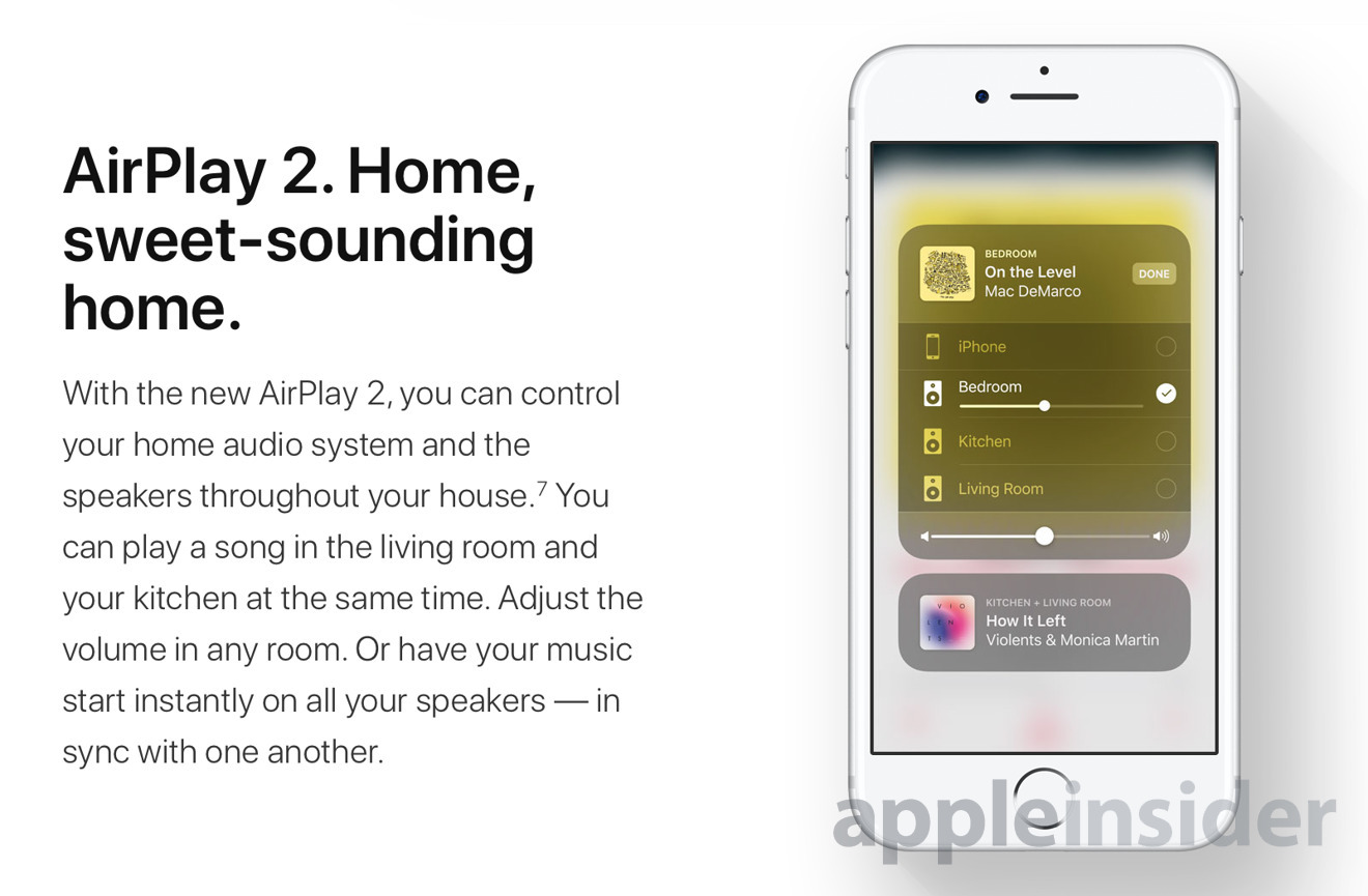 What Apple's promised for AirPlay 2 —  when it becomes available