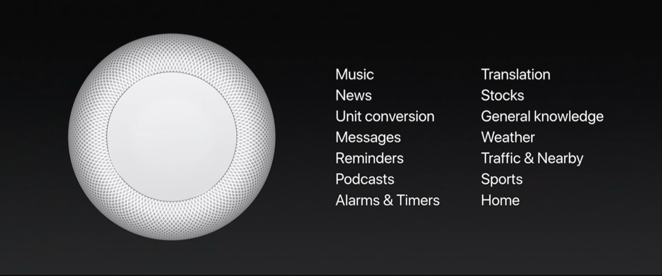 HomePod can do translation in French, German, Italian, Mandarin Chinese, and Spanish.