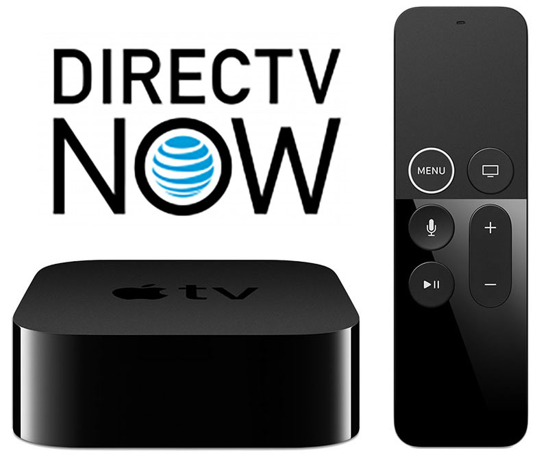 Apple TV 4K with Siri Remote and DIRECTV Now logo