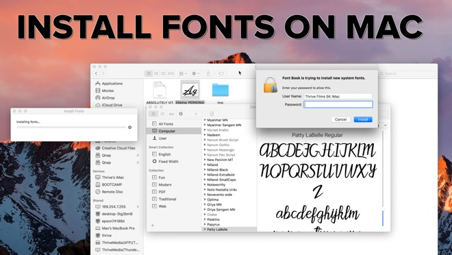 How to install fonts on a Mac and make them available to all