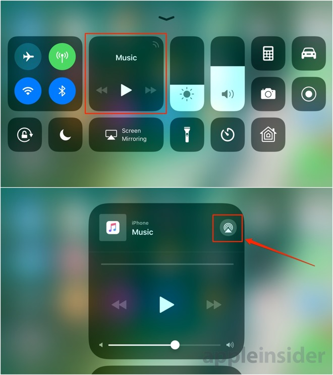 Reminder: Apple includes a tiny AirPlay toggle in iOS 11's