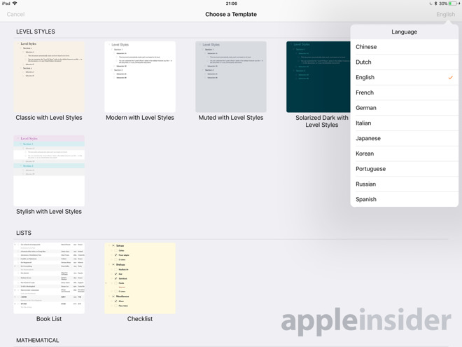 Hands on omnioutliner 3 for ipad organizes everything for Omnioutliner templates