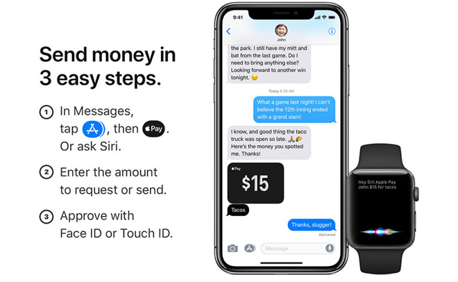Apple urges users to send money to friends with Apple Pay