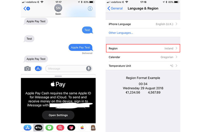 Apple Pay Cash Is Showing Up In The Messages App For Certain Ios Users In Brazil Ireland And Spain Suggesting An International Rollout Of Apples