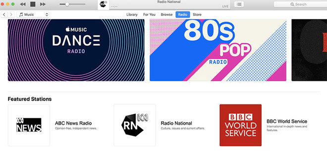 ABC News, Radio National channels go live on Apple Music