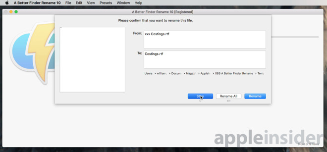 Hands on: Use A Better Finder Rename 10 on your Mac to