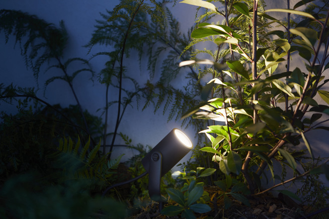 The hue calla and hue lily outdoor lights are meant to illuminate and provide ambience to a garden in the evenings as well as enhancing security by making