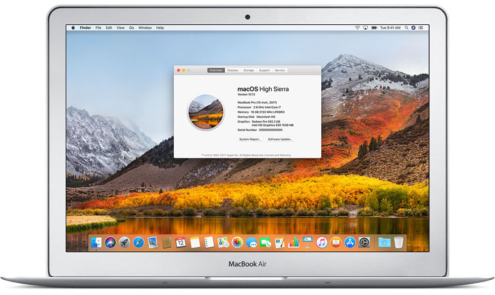 Apple 13 inch MacBook Air with High Sierra