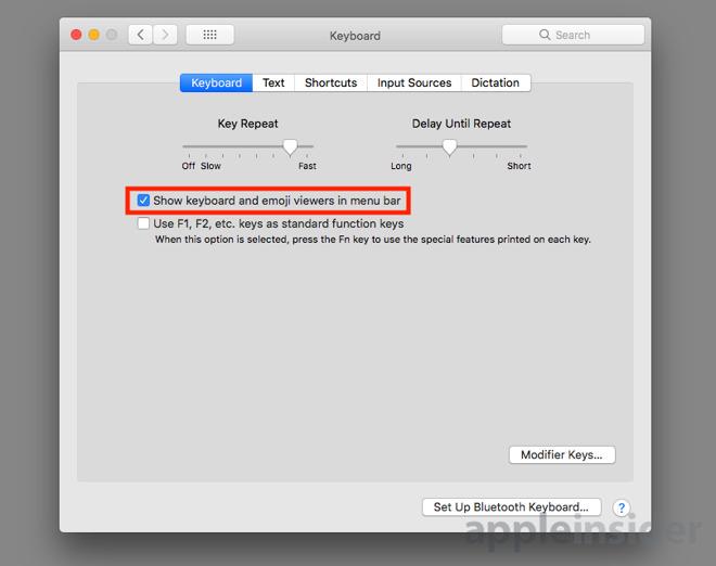 mac keyboard accents