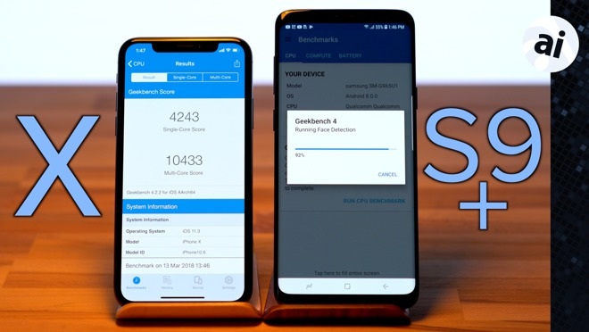 Watch: iPhone X takes on Samsung's Galaxy S9+ in
