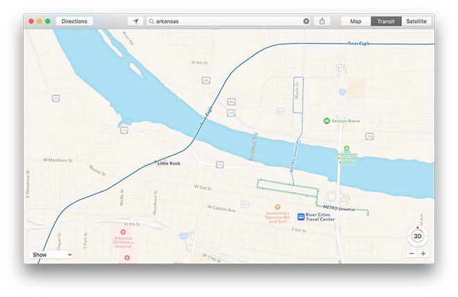 Apple Maps activates Transit directions in select areas of Arkansas