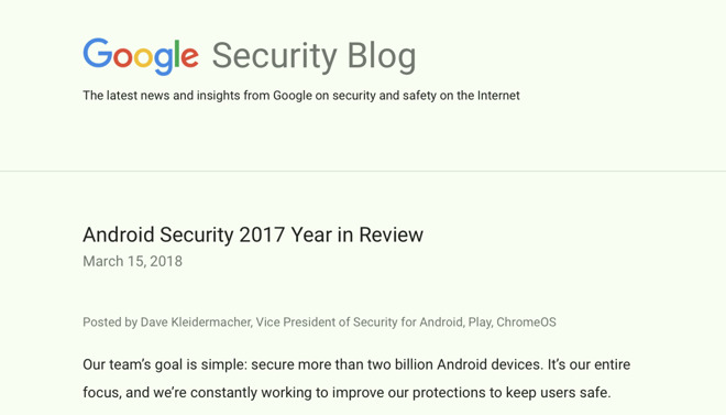 Google claims Android is