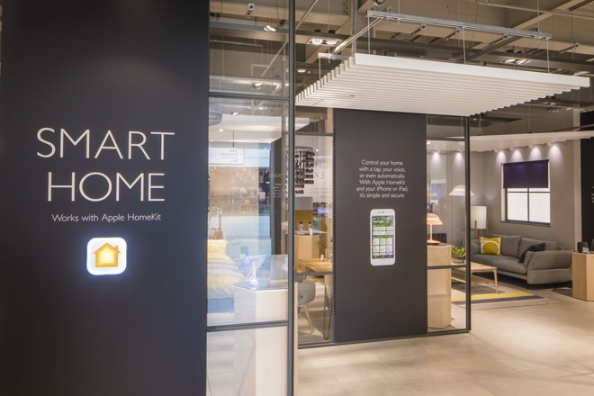 homekit experience on display at london 39 s john lewis grand. Black Bedroom Furniture Sets. Home Design Ideas
