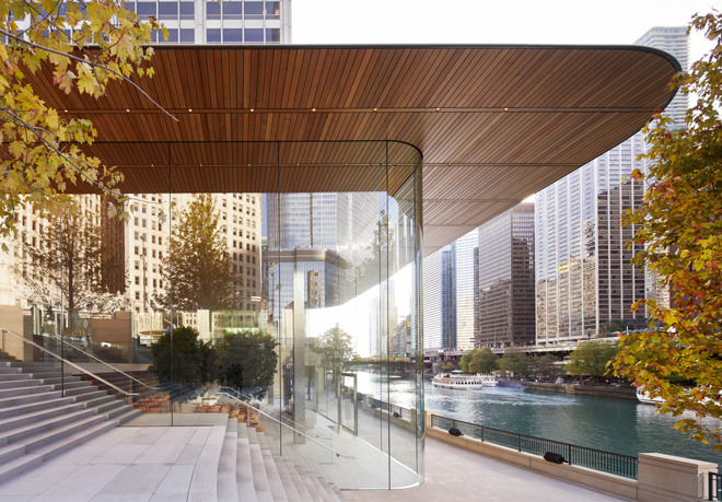 The Landlord Behind Appleu0027s Flagship Michigan Avenue Store In Chicago Is  Putting The Building Up For Sale, Only Months After Its Completion And  Opening.