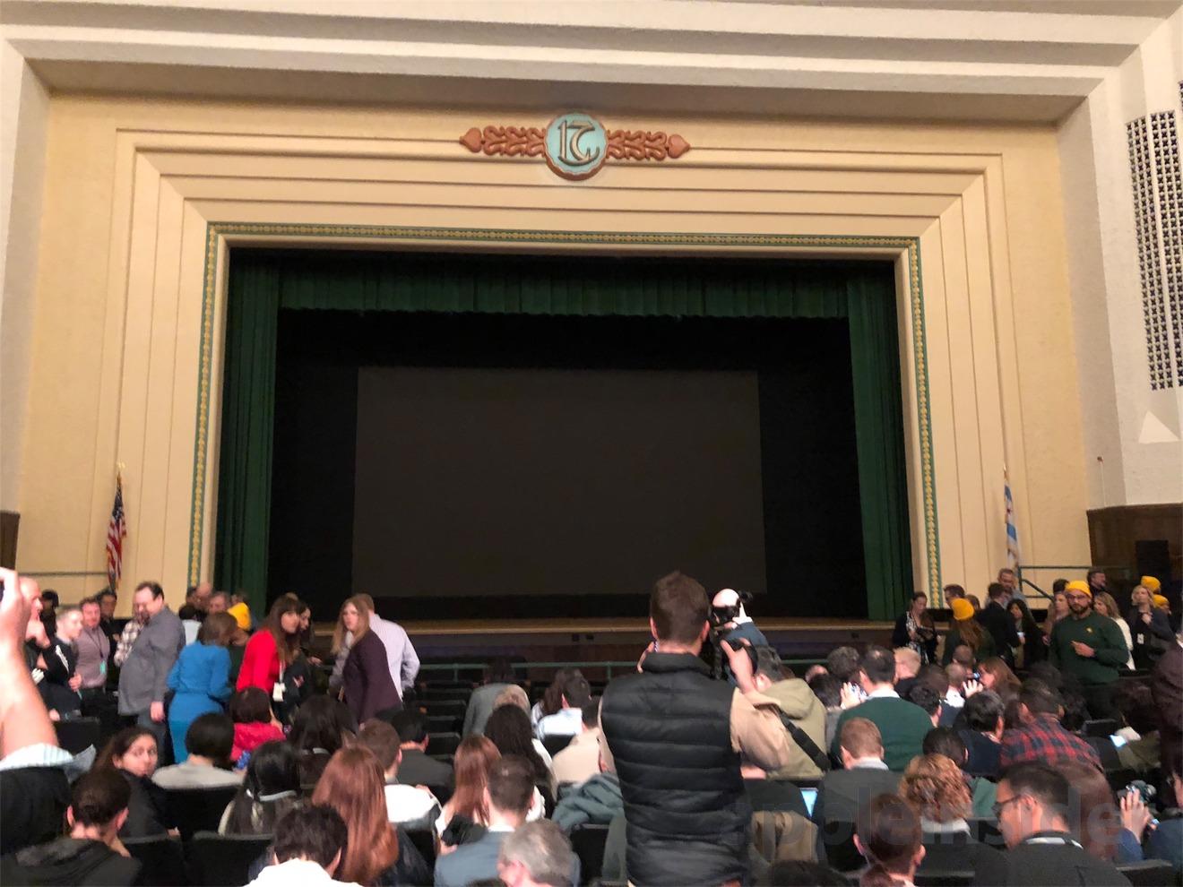 The auditorium at Lane Tech College Prep High School, Chicago IL.