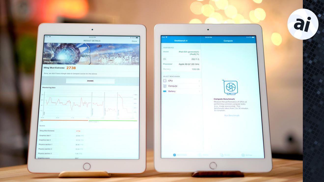 video apple 39 s 2018 ipad vs 2017 ipad benchmark comparison. Black Bedroom Furniture Sets. Home Design Ideas