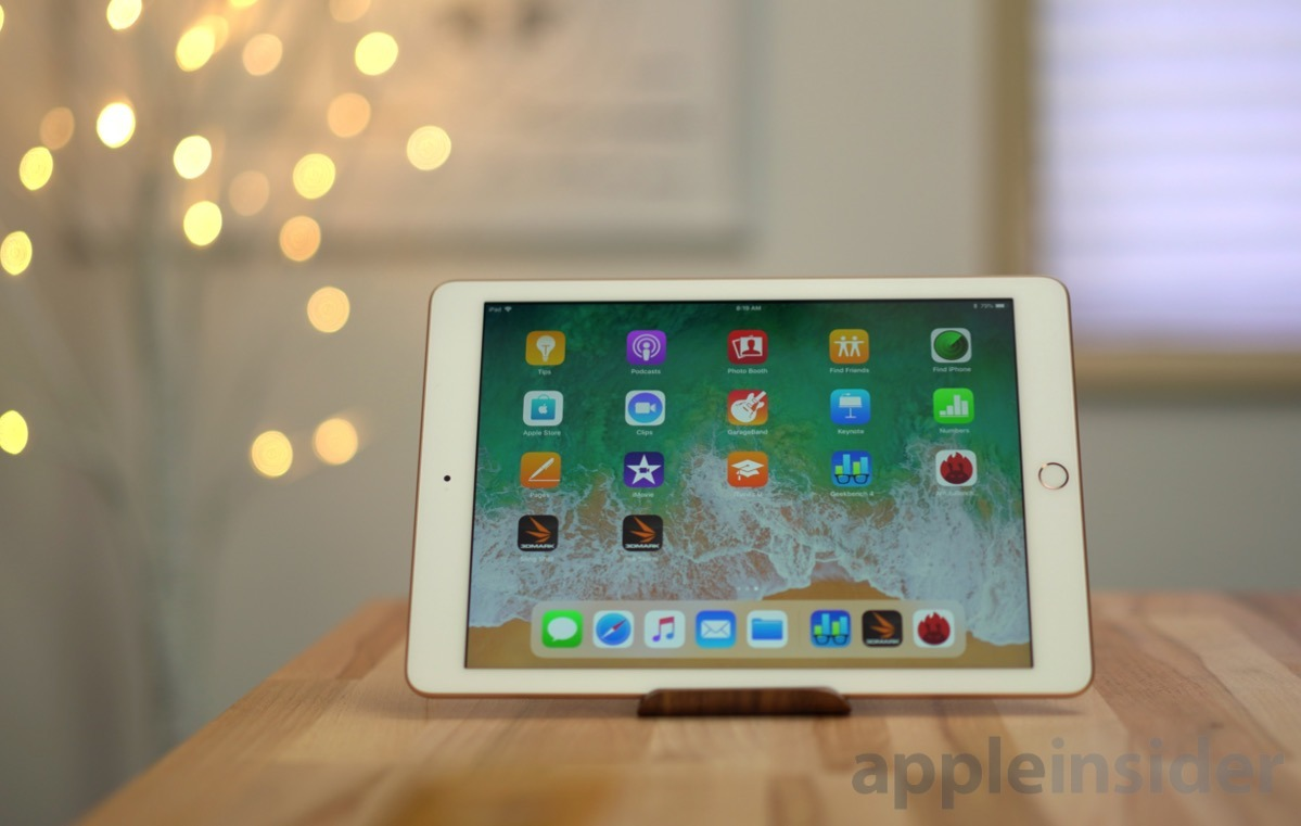 Apple Early 2018 iPad on stand