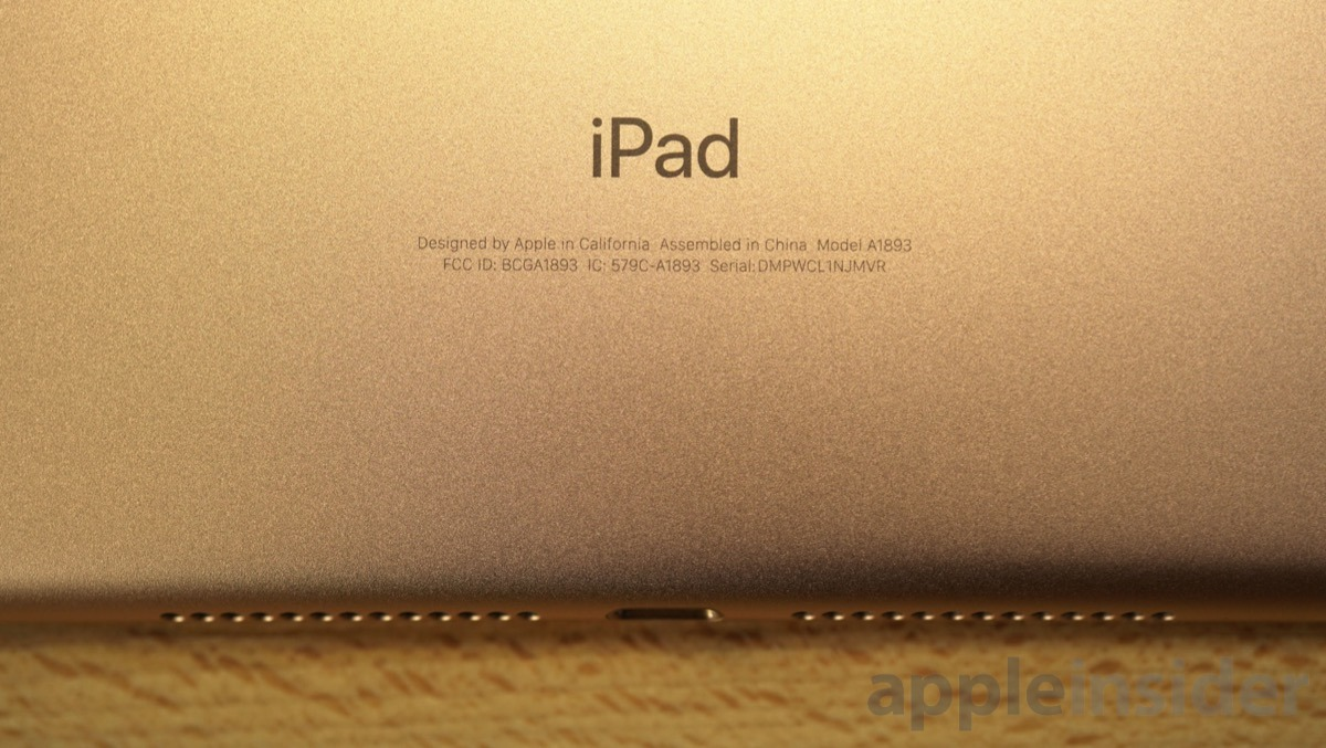 Gold 2018 Apple iPad