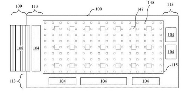 Image from MicroLED assembly patent held by Apple