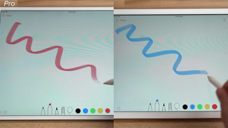 Apple Pencil on 2018 iPad versus iPad Pro