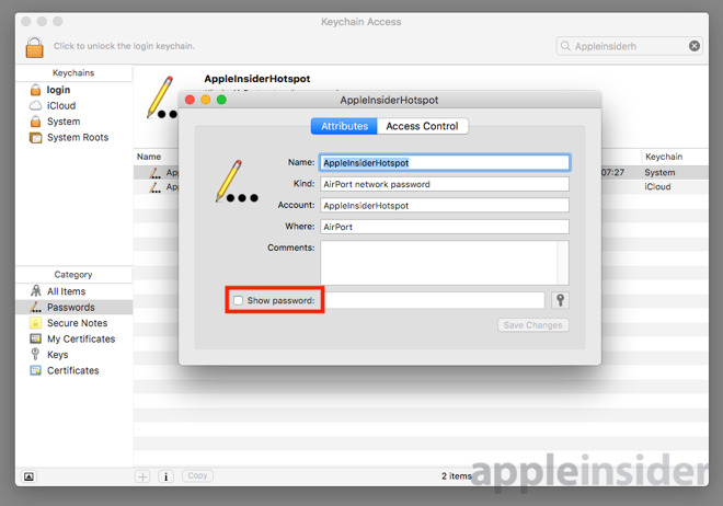 How to find your saved Wi-Fi network password stored in your Mac's